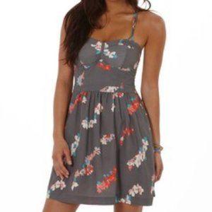 American Eagle Grey Floral Dress
